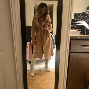 ZARA: Suede Brown/ Nude Trench Coat